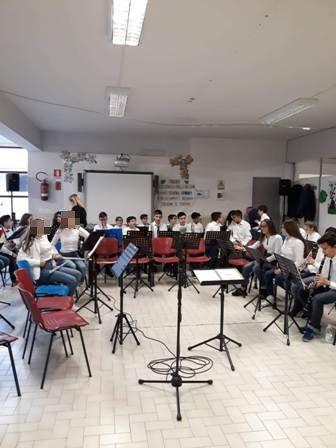 Esibizione dei ragazzi dell'Orchestra